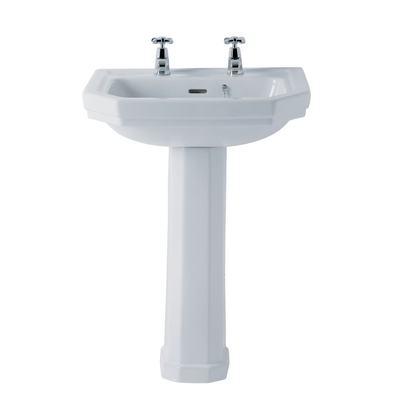 58cm Washbasin, 2 tapholes