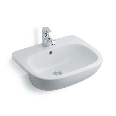 55cm Semi-Countertop Washbasin, 1 tapholes