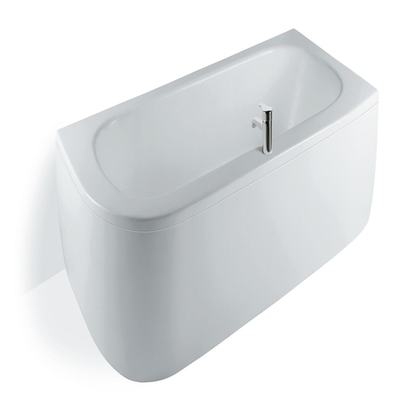 180cm Asymmetric Bath Double Ended Bath, Right Hand