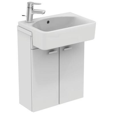 Cube 50cm Semi-Countertop Washbasin, LH, 1 taphole