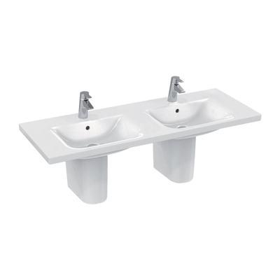 Lavabo top a doppio bacino 130 x 49 cm