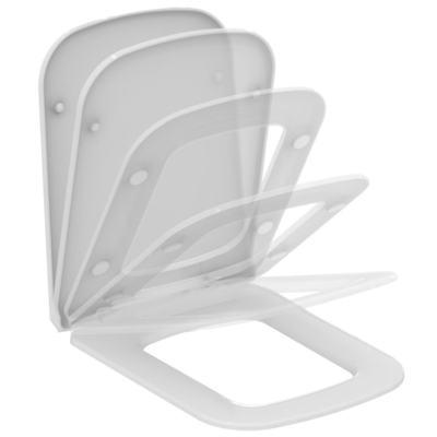 MIA / STRADA Тонкое сидение и крышка для унитаза, дюропласт, с функцией плавного закрытия