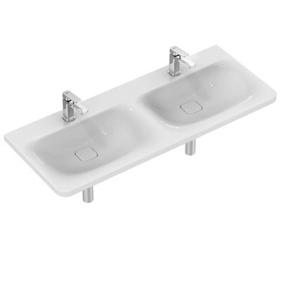 Basin Double 120 cm with 2 tap holes
