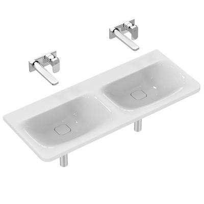 Basin Double 120 cm without tap holes