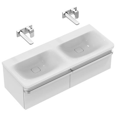 Vanity Basin Double 120 cm without tap holes
