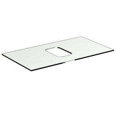Glass Worktop 80 cm without tap hole