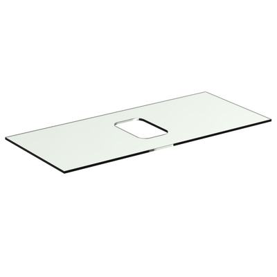 Glass Worktop 100 cm without tap hole