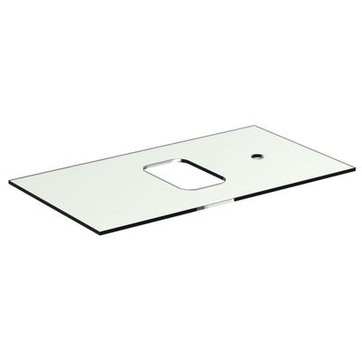 Glass Worktop 80 cm with tap hole