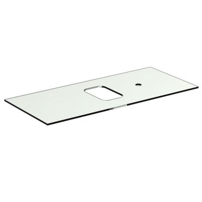 Glass Worktop 100 cm with tap hole