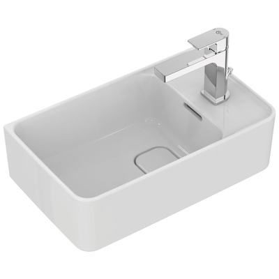 Handwash basin 45 cm, Right tap hole punched, with overflow (slotted shape)