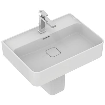 Washbasin 60 cm, with tap hole, with overflow (slotted shape)