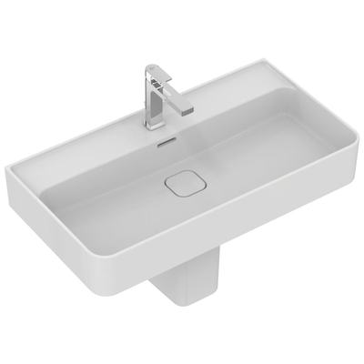 Washbasin 80 cm, with tap hole, with overflow (slotted shape)