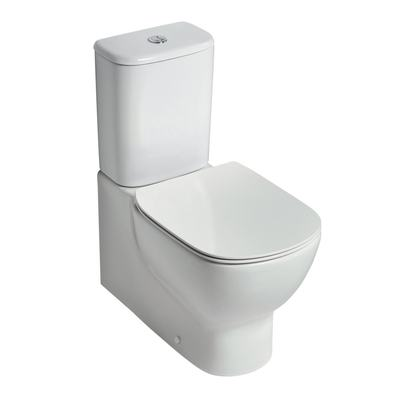 AquaBlade® close couple back-to-wall WC bowl
