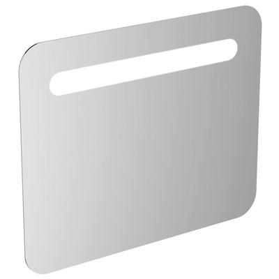 800mm Rounded Anti Steam Mirror with Light, Sensor & Bluetooth Technology