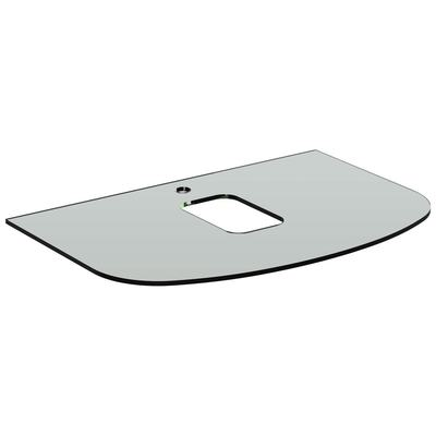 800mm Glass Worktop with taphole for vessel