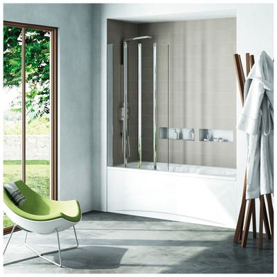 CONNECT экран для ванны, состоящий из 4-х сдвижных панелей, 85x150 см