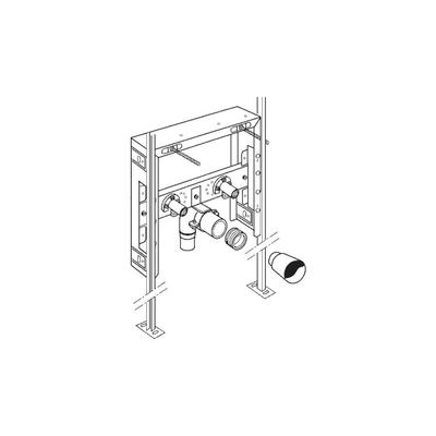 Installation frame SIMFLEX for Washbasins