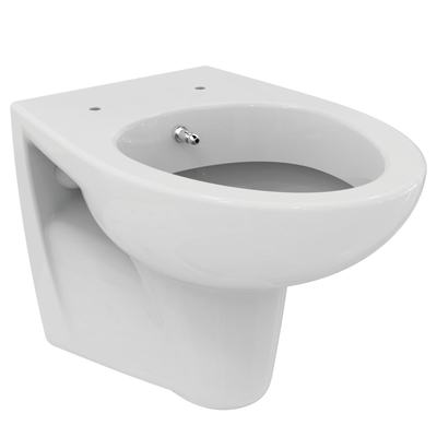 Wall mounted WC bowl with bidet function Euro White
