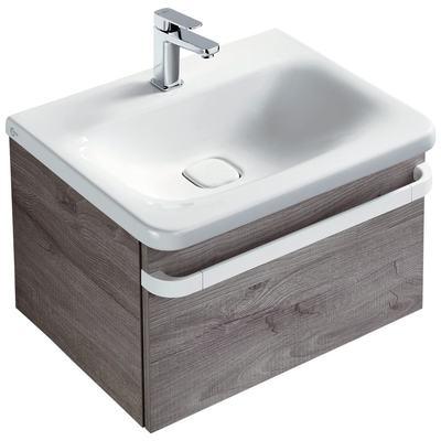 Basin unit 1 drawer 600mm gloss white