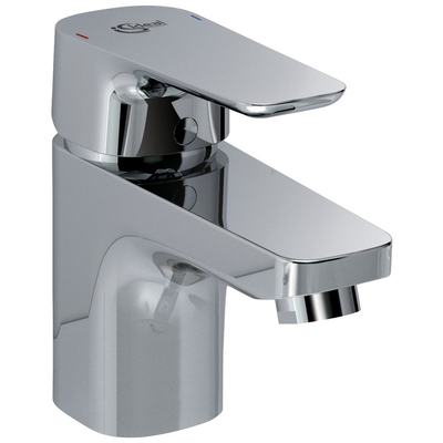 One-hole basin mixer without pop-up waste