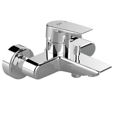 Single lever exposed wall mounted bath shower mixer