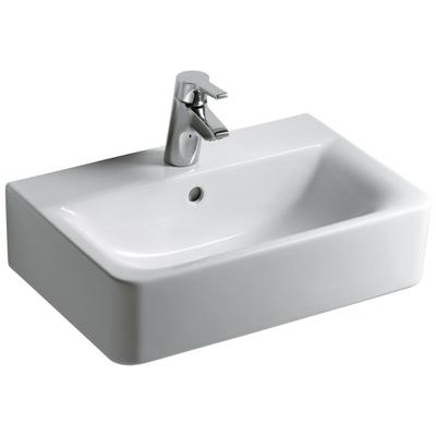 Washbasin CUBE 55 cm, short projection