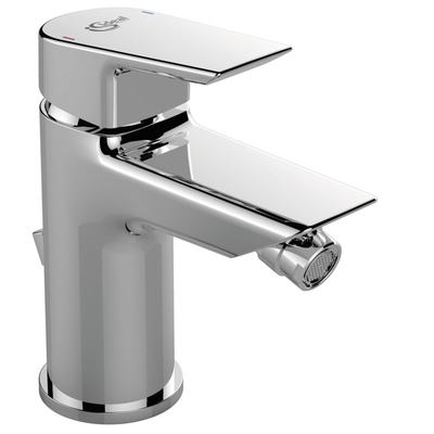 One hole bidet mixer with pop-up waste