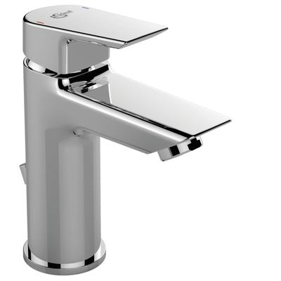 One hole basin mixer with pop-up waste