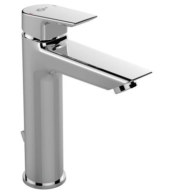 One hole basin mixer GRANDE with pop-up waste, for low pressure ND