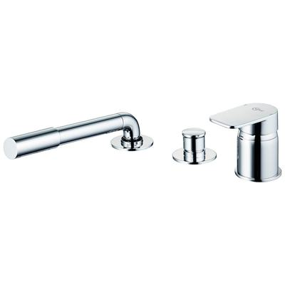 3 hole Single Lever bath shower mixer with diverter for multiplex trio