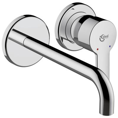 Basin mixer for built-in
