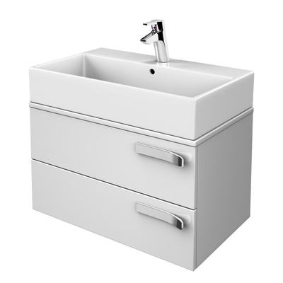 700mm Wall Mounted Basin Unit, 2 Drawers & Worktop