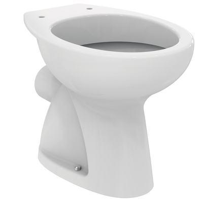 Стояща тоалетна чиния с хоризонтално оттичане Бял