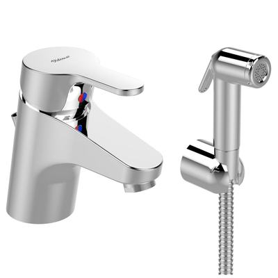 Basin mixer with hygienic hand shower Chrome
