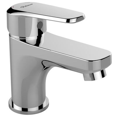 Basin mixer without pop-up waste Chrome