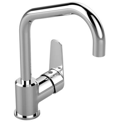 Basin mixer with high tubular spout U160 Chrome
