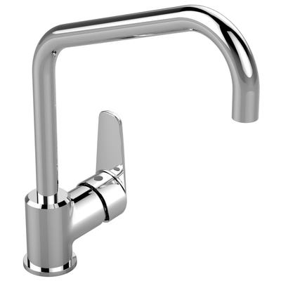 One-hole kitchen mixer Chrome
