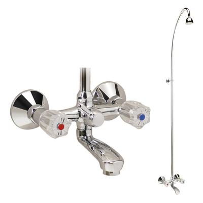 Exposed bath & shower mixer with accessories Chrome