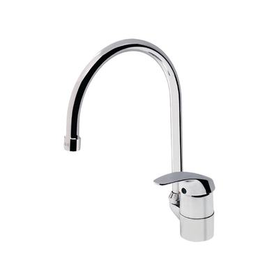 One-hole kitchen mixer with Tubular Spout Chrome