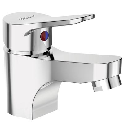 One-hole basin mixer without pop-up waste   Chrome