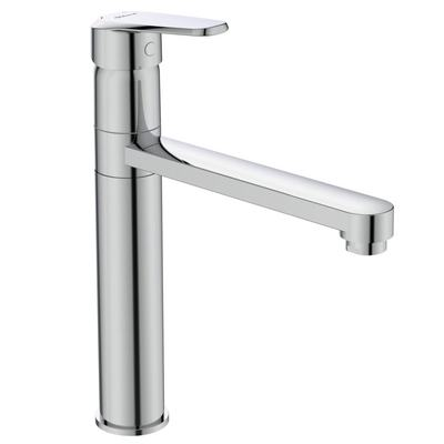 Kitchen mixer with high tubular spout Chrome