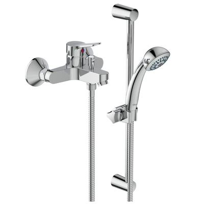 Exposed bath&shower mixer with accessories Chrome