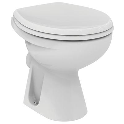 Floor standing single WC bowl Euro White