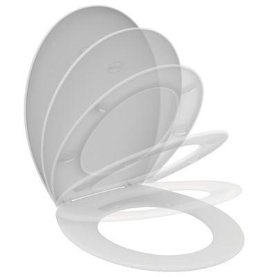 Тоалетна седалка с функция за плавно спускане  Бял