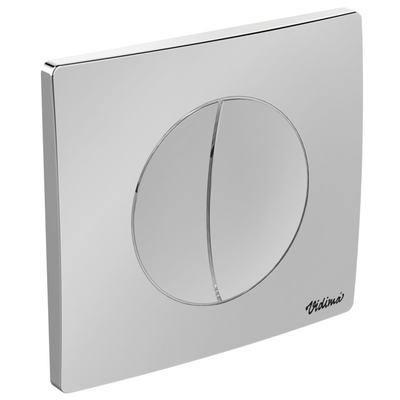 Double-button Flush plate Chrome