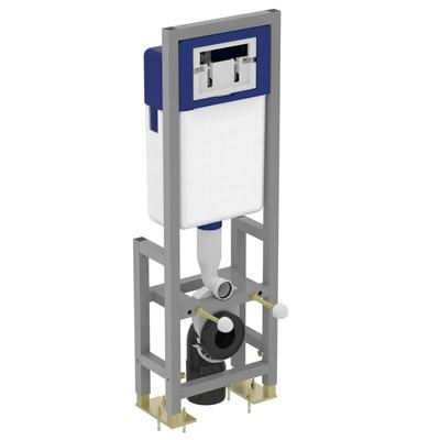 Floor mounted solid mounting frame suitable for use with wall-hung WC bowls Neutral