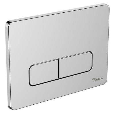 Chrome plated Dual flush control plate Chrome