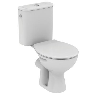 WC комплект хоризонтално оттичане Бял