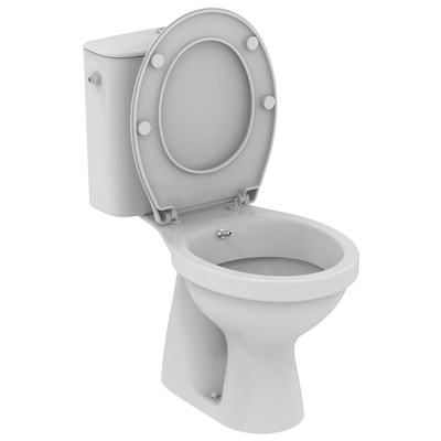 Floor standing close coupled WC combination with bidet function Euro White