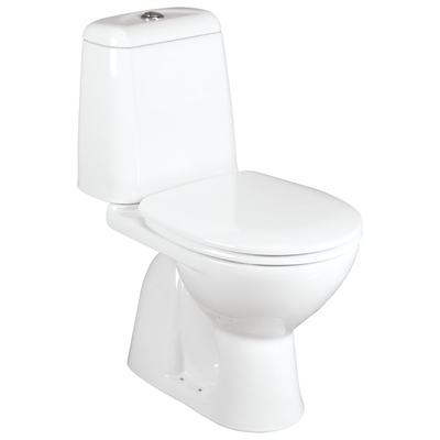Floor standing close coupled WC combination Elegance Euro White